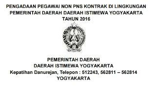 Lowongan Kerja Non PNS Terbaru Pemda Yogyakarta SMP SMA D3 S1