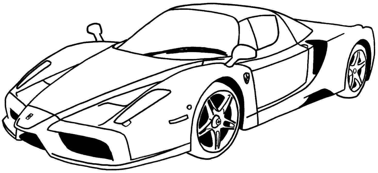 imagens de carros de luxo para colorir