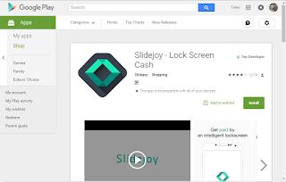 اربح المال من قفل وفتح جهازك الاندرويد مع تطبيق (Slidejoy - Lock Screen Cash)