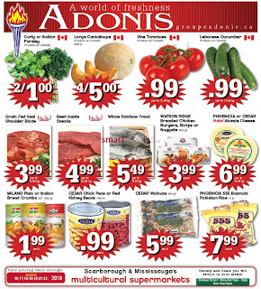 Marche Adonis Weekly Flyer Circulaire August 16 - 22, 2018