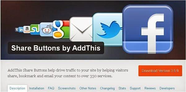 AddThis Share Button WordPress Plugin