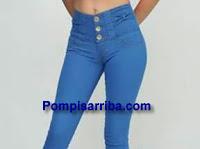 Levanta pompis de mezclilla jeans de mezclilla pantalones stretch para dama 2016