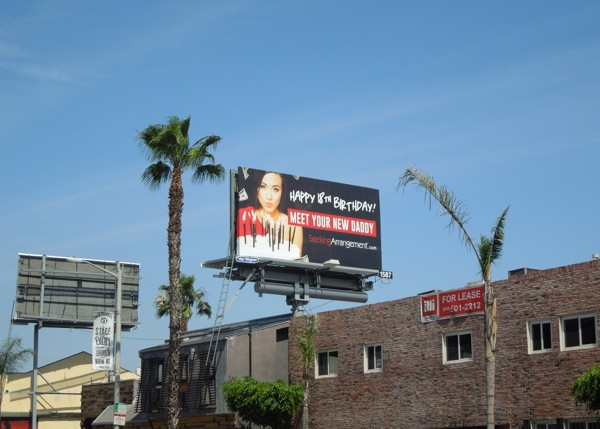 Meet your new Daddy billboard Sunset Strip