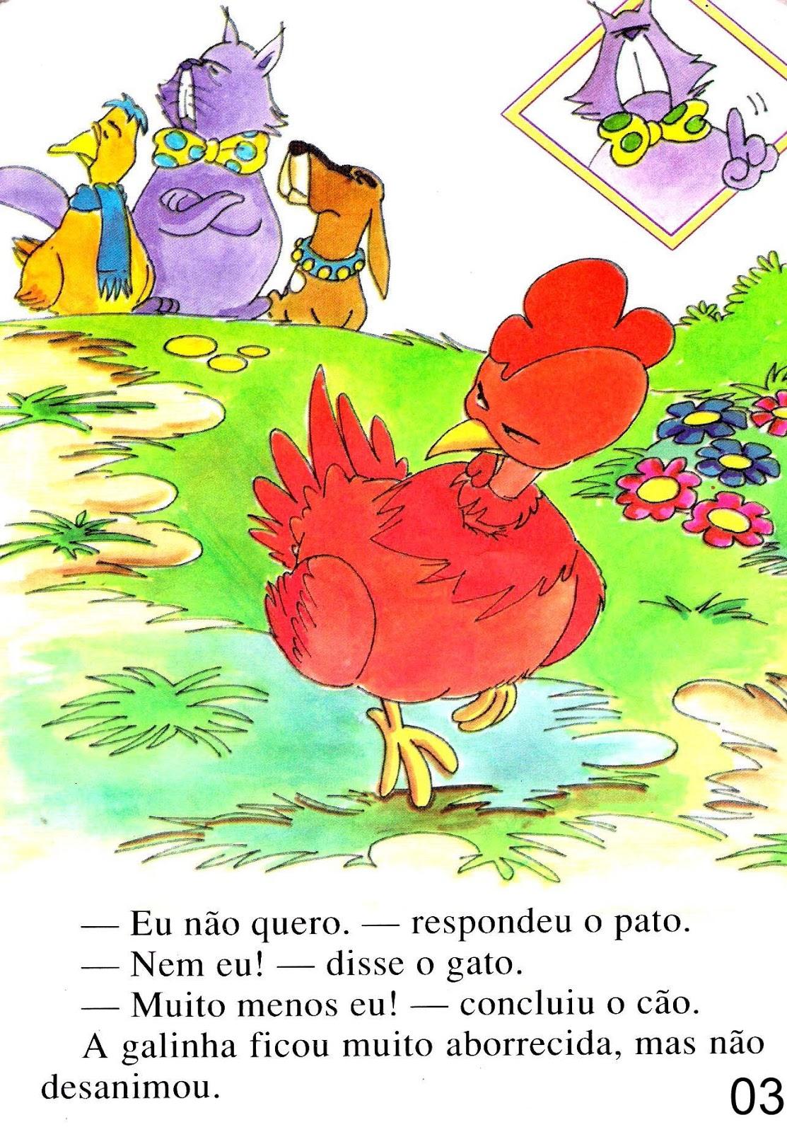 Educação.com - Professores online.: Livro: A galinha ruiva