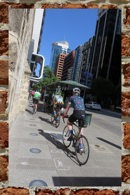 What to see in Perth - Cyclists on the Sidewalk