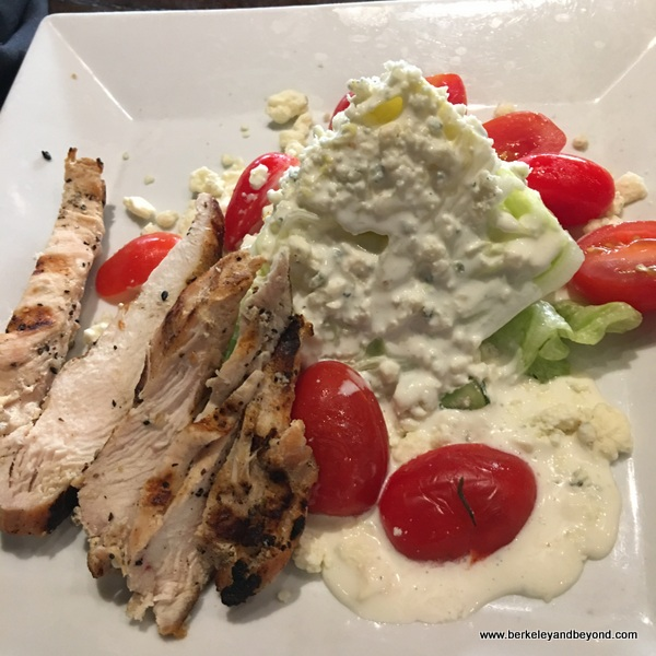 iceberg lettuce wedge salad at Liberty Tap Room & Grill in Columbia, South Carolina
