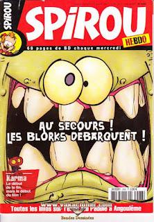 Spirou Hebdo, les Blorks débarquent !, numéro 3588, année 2007