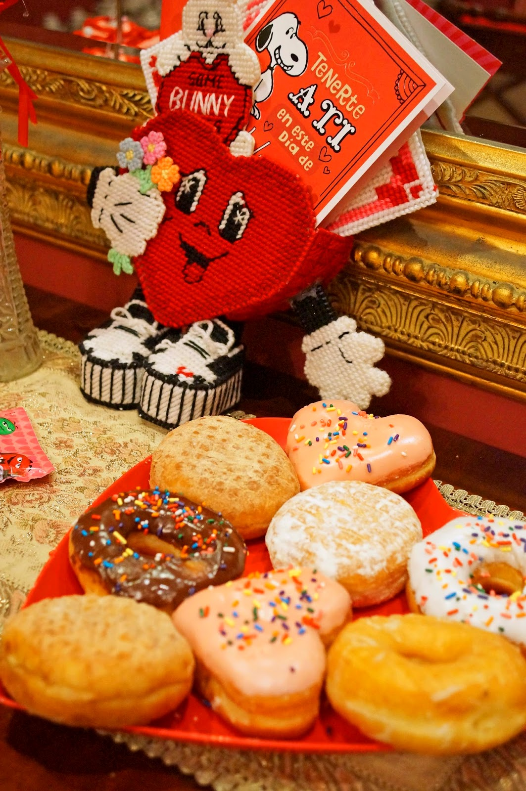 Donuts make a great Valentines Day Dessert!