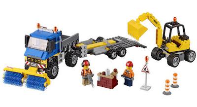 JUGUETES - LEGO City  60152 Barredora y excavadora   2017 | Juego de Construcción  Piezas: 299 | Edad: 5-12 años  Comprar en Amazon España
