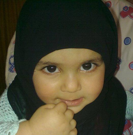 Very Cute Baby Girl In Black Hijab