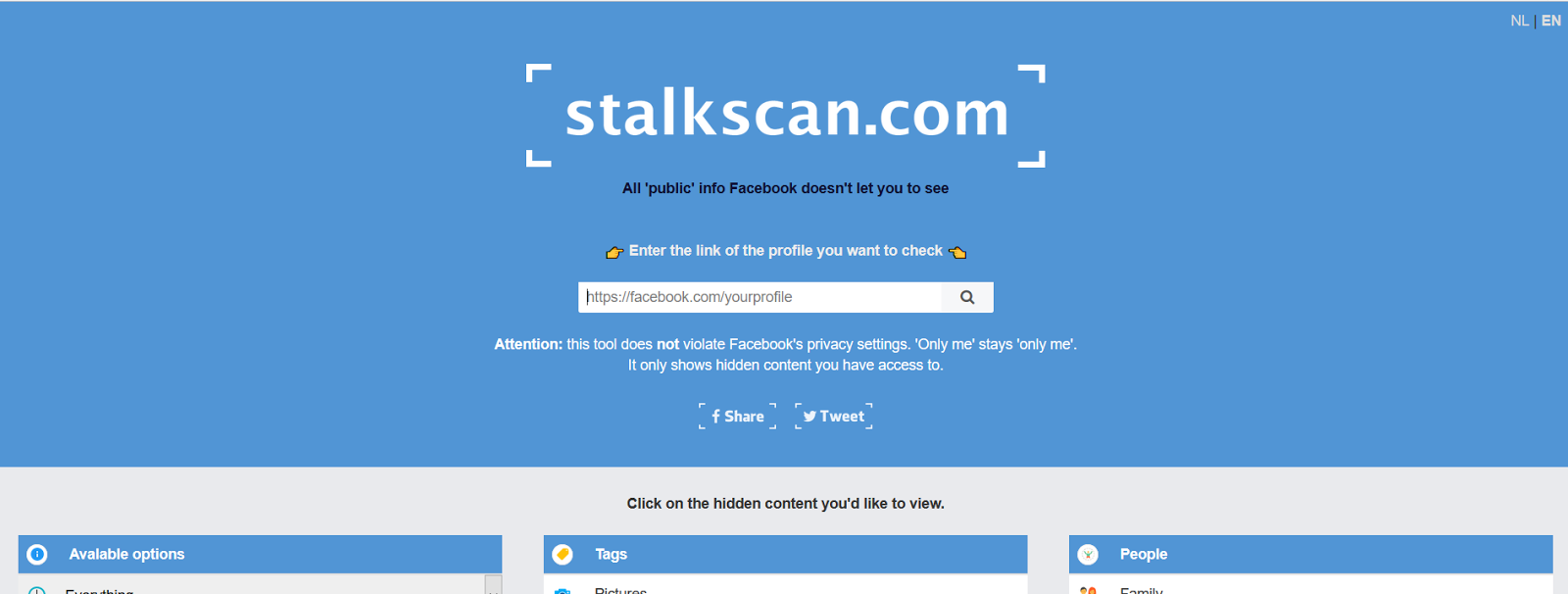 Stalkscan - A Creepy Tool That Exposes All Your Facebook