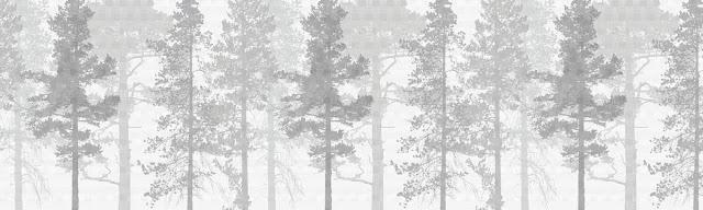 Metsä tapetti mustavalkoinen