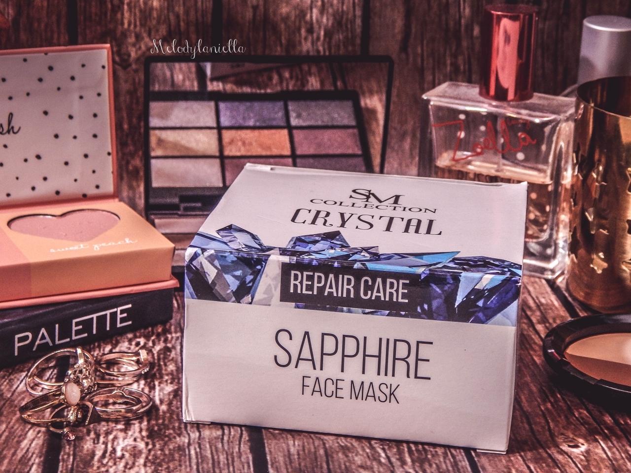 2 sm collection crystal sapphire face mask repair care maseczka szafirowa hristina do twarzy maseczki do tłustej świecącej się skóry słonnej do wyprysków maseczka matująca opinia recenzja jak działa blog beauty łódź