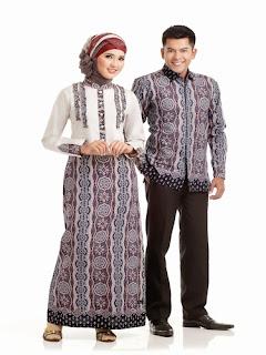 Model Baju Long Dress Batik Kombinasi