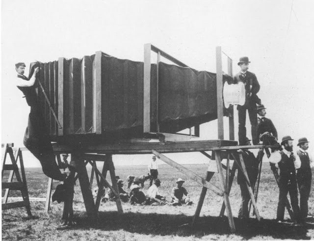 The Biggest Camera In The World was built by GEORGE R. LAWRENCE