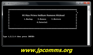 Bypass Micloud Redmi Mi Max Prime