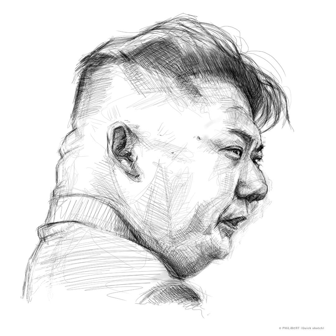 Quick sketch of kim jong un