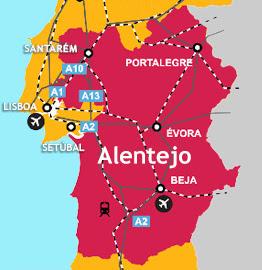 Alentejo Mapa Portugal