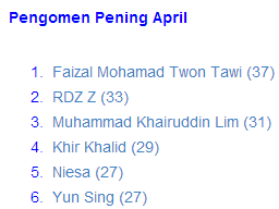 Pengomen Pening April 2014