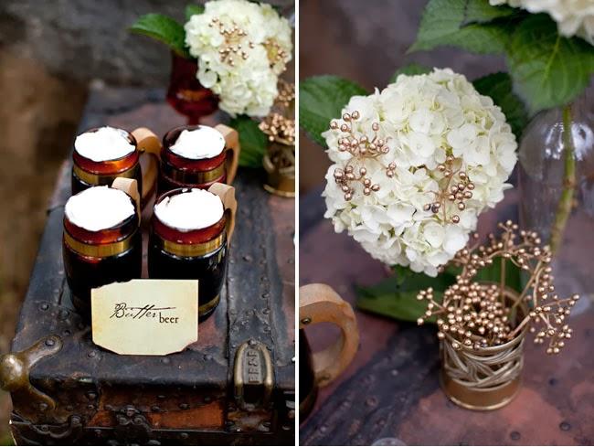 A quién no le gustaría probar la cerveza de mantequilla? En este boda la ofrecen.