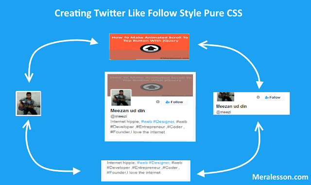 Creating Twitter Like Follow Style Button With Pure CSS