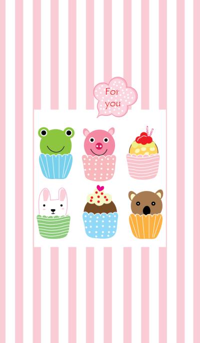 Animal cup cake