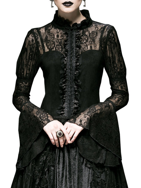 Romantic Gothic Fall Maxi PunkRave Dresses