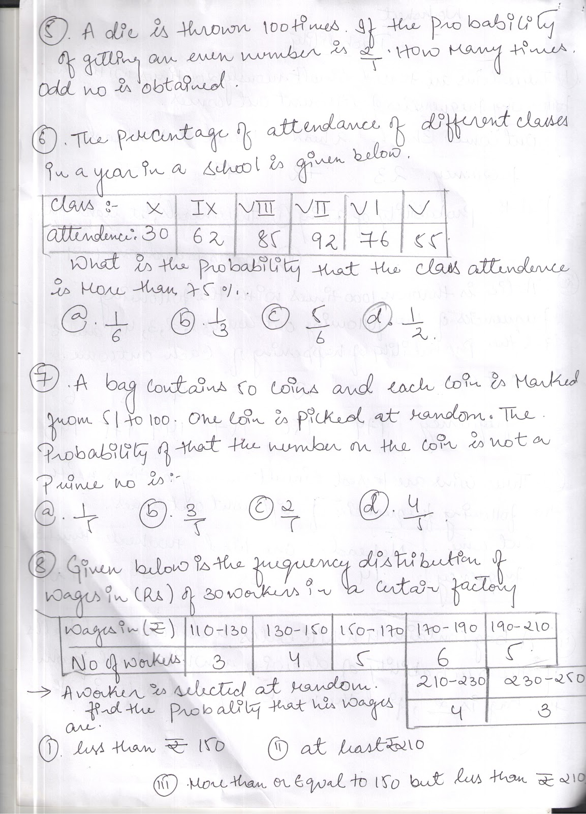 Apsg Probability Revision Worksheet