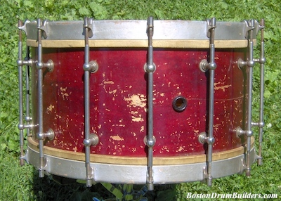 George B. Stone & Son Separate Tension Band Drum - Before Restoration