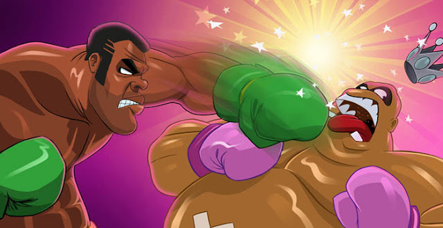Punch out Sandman versus King Hippo