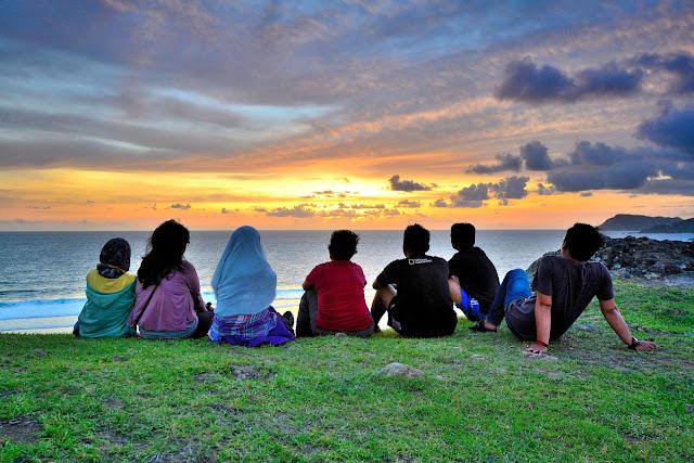 Sunset di Bukit Merese Lombok