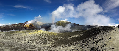 Main crater of Mount Etna, views we saw in the group tour.
