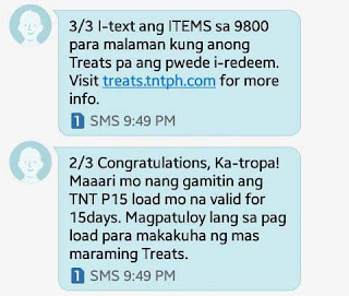 TNT rewards notification