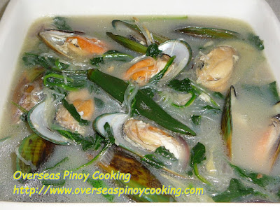 Tinolang Tahong with Sotanghon Recipe