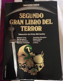 Portada del Segundo gran libro del terror, de varios autores