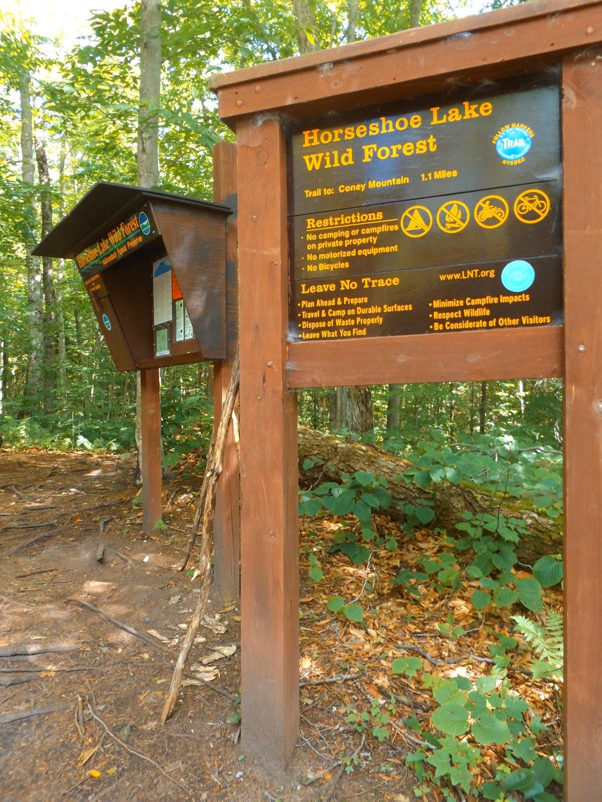 Walking Man 24 7: Kibby Pond & Coney Mountain(Adirondacks)