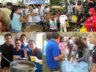 Various relief activities of Globe Bangon Pinoy