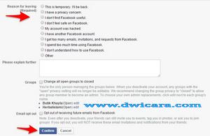 cara hapus akun facebook sendiri