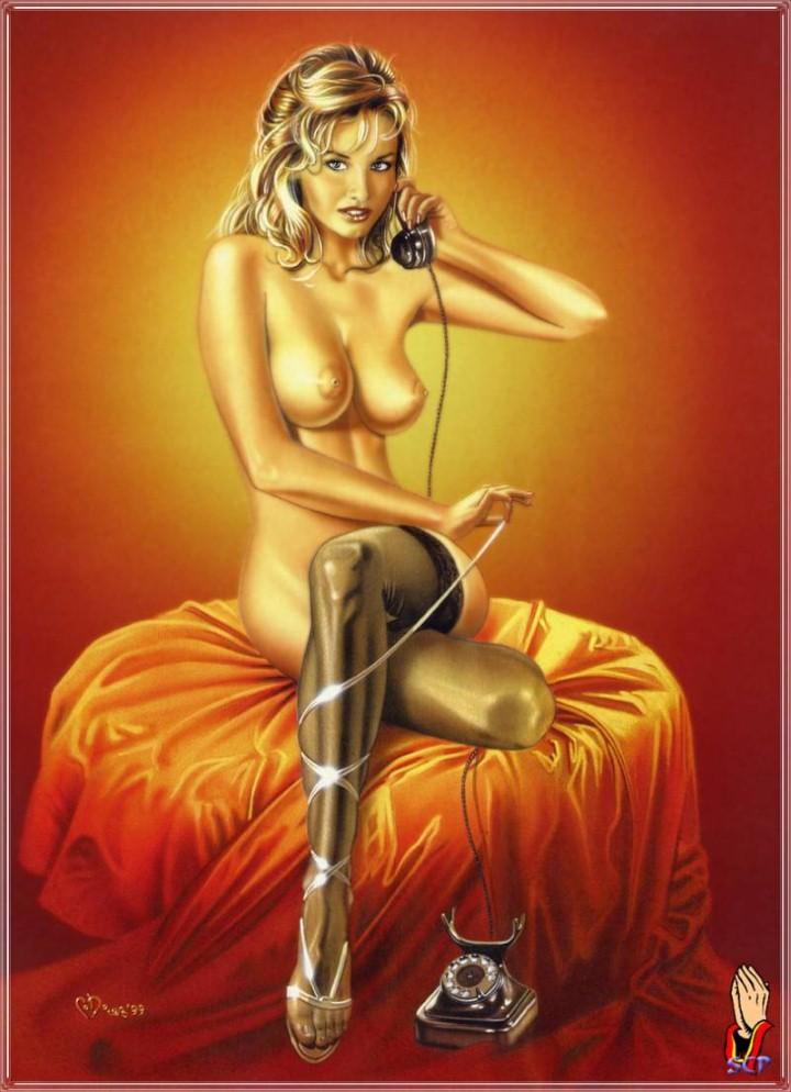 Художник Carlos Diez. Sexy Dreams Pin-ups 36