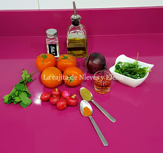 Ingredientes Chimol salvadoreño