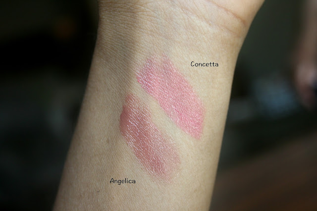 Dolce & Gabbana Miss Sicily Color & Care Lipstick in Angelica and Concetta Swatches