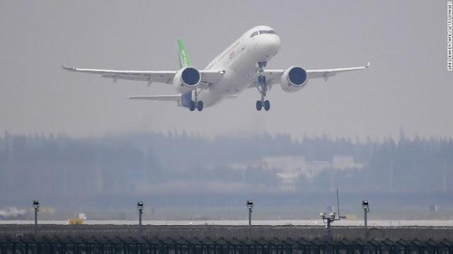 Первый китайский магистральный авиалайнер совершил взлёт в рамках испытаний