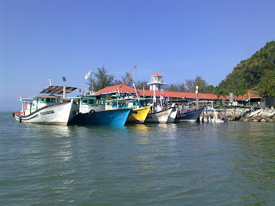 Tanjung Leman new jetty view from river