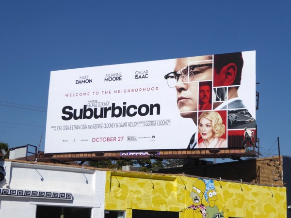 Suburbicon movie billboard