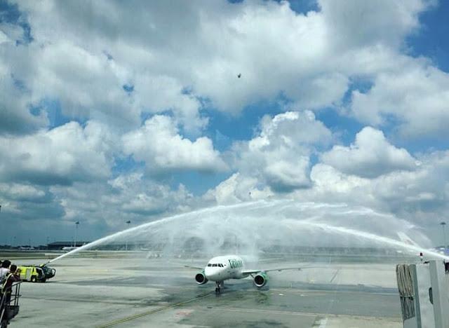 Penerbangan perdana Citilink rute Banyuwangi-Kuala Lumpur.