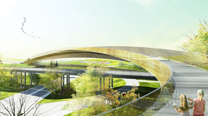 Sculptural Bridge by Erik Giudice Architects