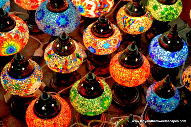 fancy Arabian lamps at Dubai Old Souk