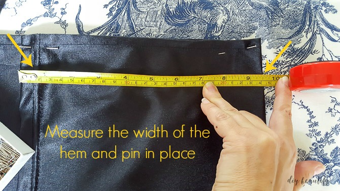 measure and pin