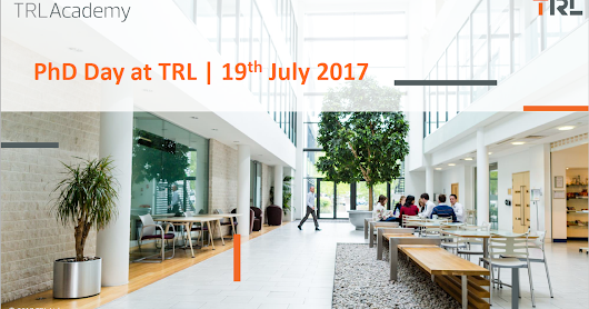 20 – The TRL PhD Day 2017