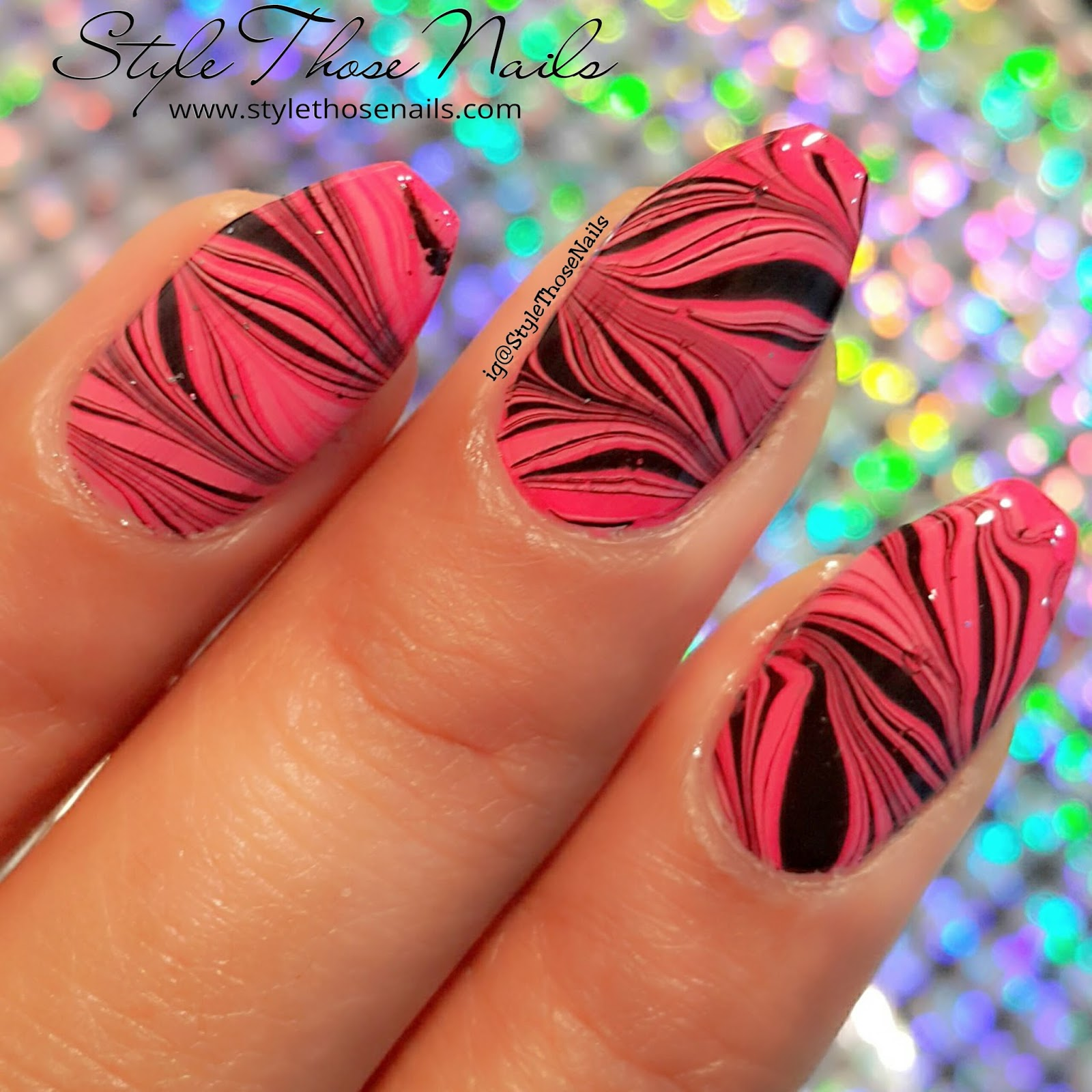Style Those Nails: Water Marble Nail Collaboration